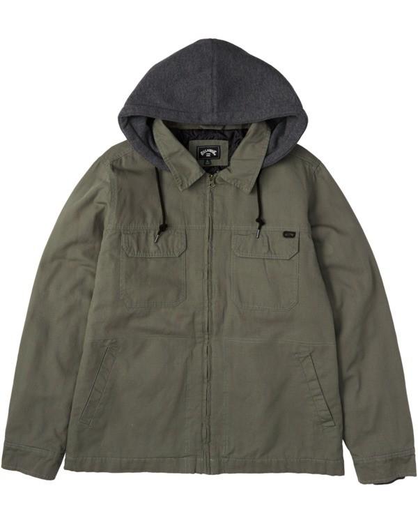 0 Barlow Twill Jacket Green M7063BBT Billabong