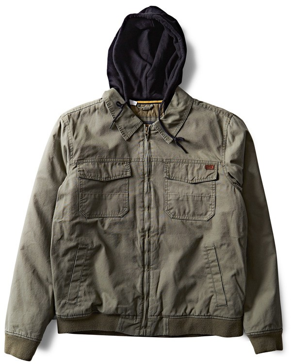 0 Barlow Twill Jacket Green M706QBBT Billabong