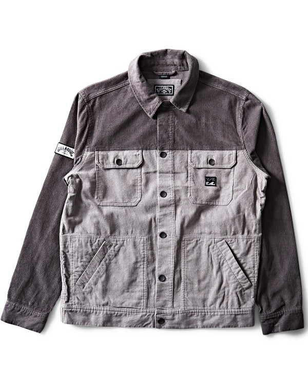 0 The Cord Jacket Grey M712QBTC Billabong