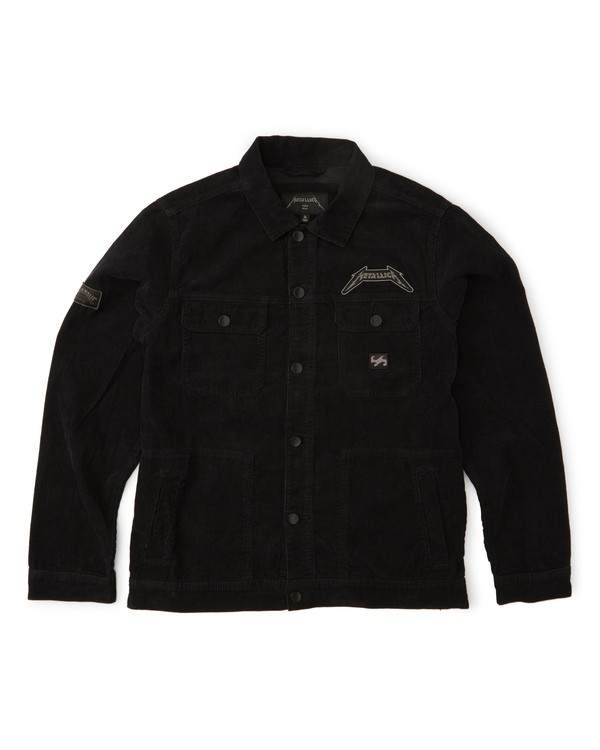 0 Black Album Jacket Grey M713WBBL Billabong