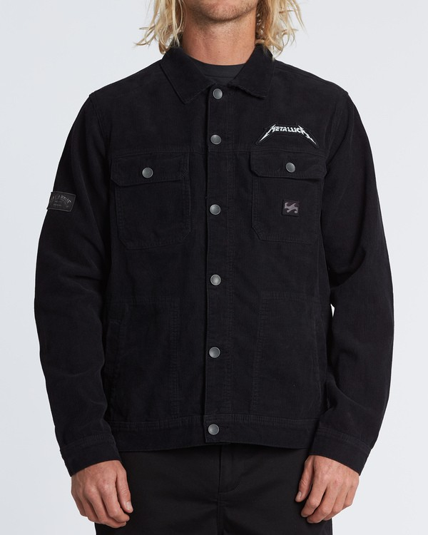 0 Metallica Shortest Straw Jacket Black M7141BSH Billabong