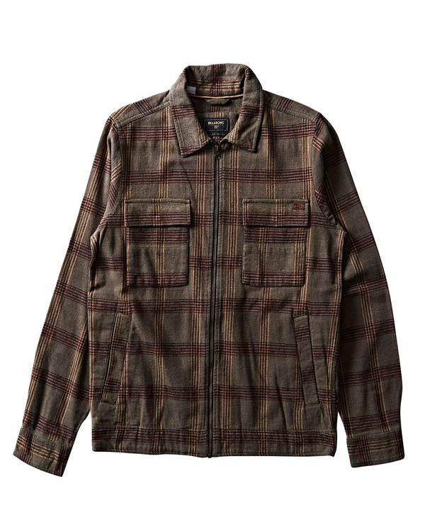 0 Barlow Lite Plaid Workwear Jacket Green M726SBBA Billabong