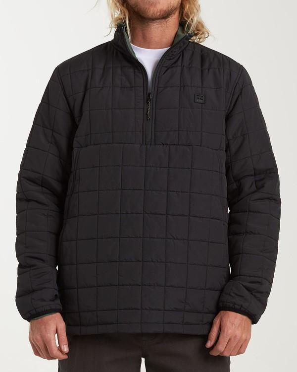 0 Boundary Reversible Puffer Anorak Jacket Black M727VBBO Billabong
