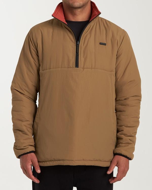 0 Boundary Reversible Puffer Anorak Jacket Beige M727VBBO Billabong