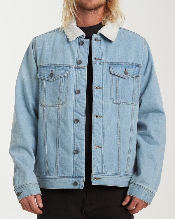 0 Barlow Trucker Jacket Blue M744VBTR Billabong