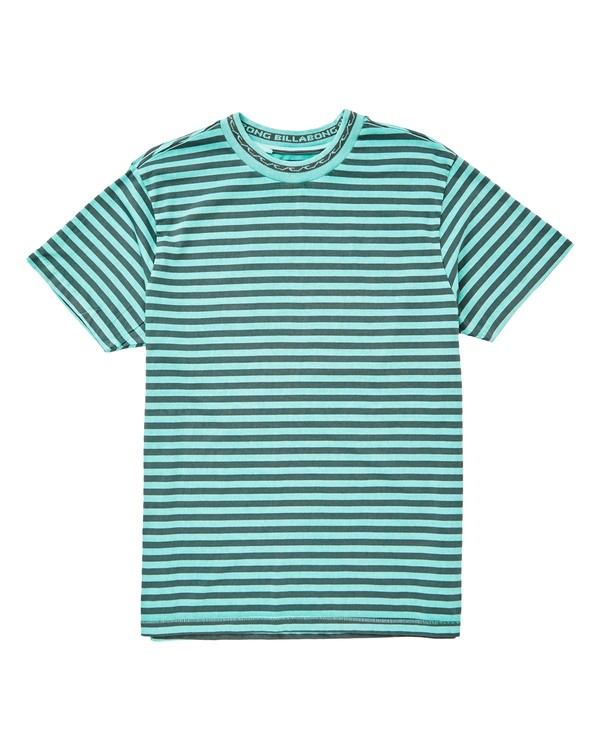 0 Barrels Crew T-Shirt Green M902UBCR Billabong