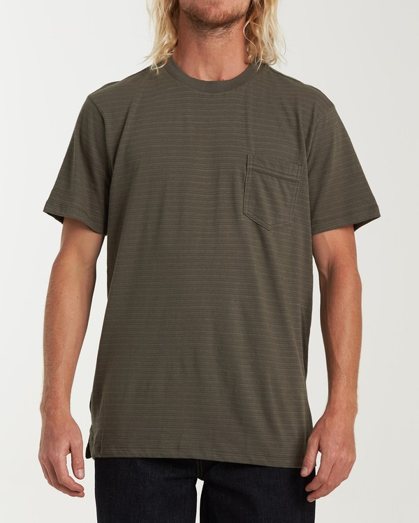 0 Mesa Crew Short Sleeve Pocket T-Shirt Green M902WBME Billabong