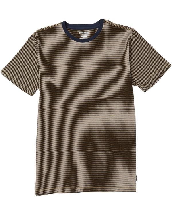 0 Delta Crew Striped T-Shirt Beige M903SBST Billabong