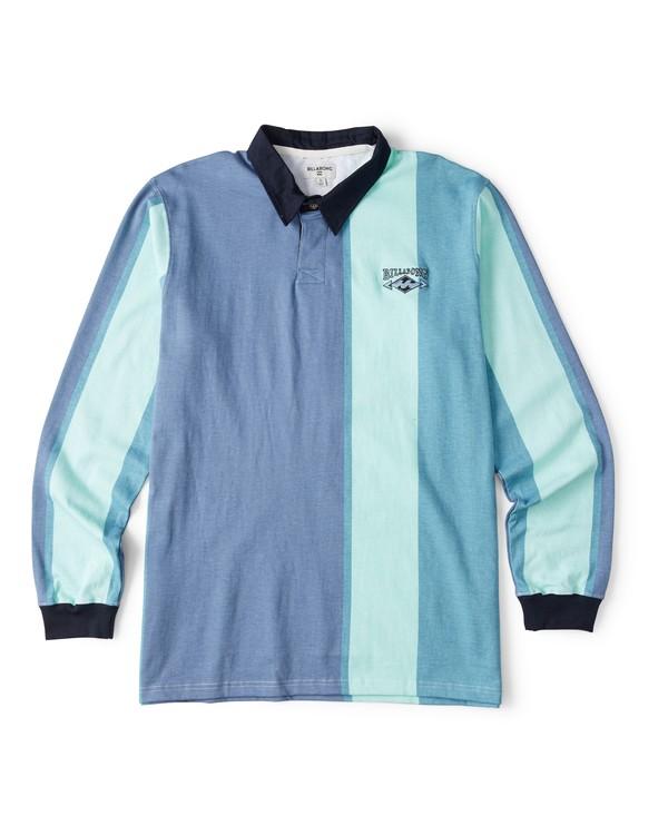 0 Hux Long Sleeve Polo Shirt Blue M903WBXE Billabong