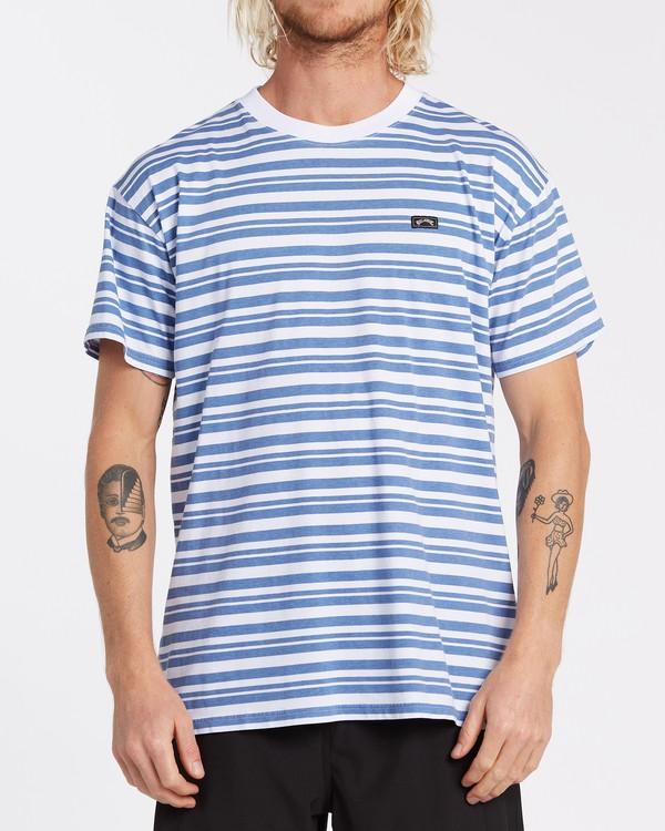 0 Simmo Stripe Short Sleeve T-Shirt White M9041BSE Billabong