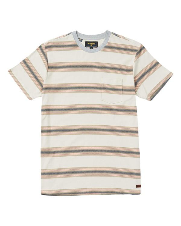 0 Chico Crew Striped T-Shirt Beige M904SBCH Billabong