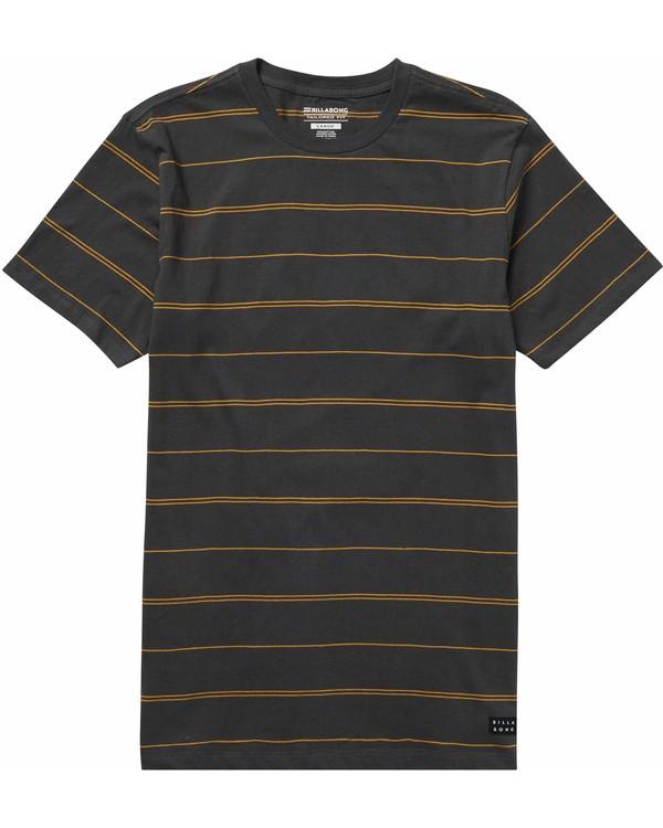 0 Die Cut Stripe Short Sleeve Crew T-Shirt  M905NBDI Billabong