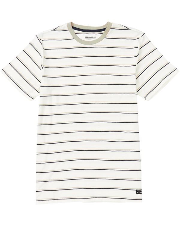 0 Die Cut Stripe Short Sleeve Crew T-Shirt Beige M905NBDI Billabong