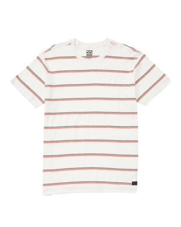 0 Die Cut Stripe Short Sleeve Crew Shirt White M905TBDI Billabong