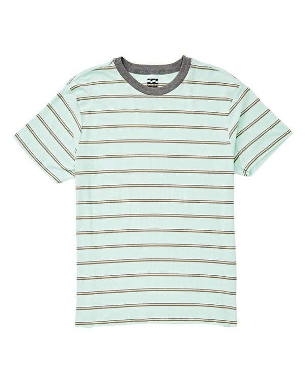 0 Die Cut Stripe Short Sleeve Crew Blue M905TBDI Billabong