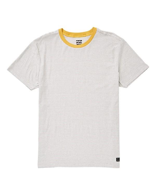 0 Die Cut Stripe Short Sleeve Crew Shirt Grey M905TBDI Billabong