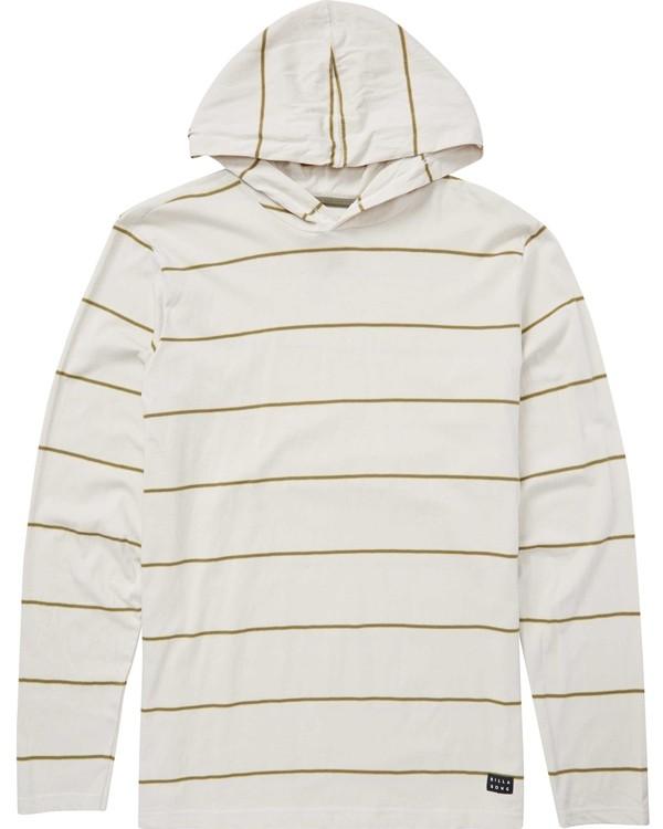 0 Die Cut Stripe Pullover Hoodie Grey M906NBDP Billabong