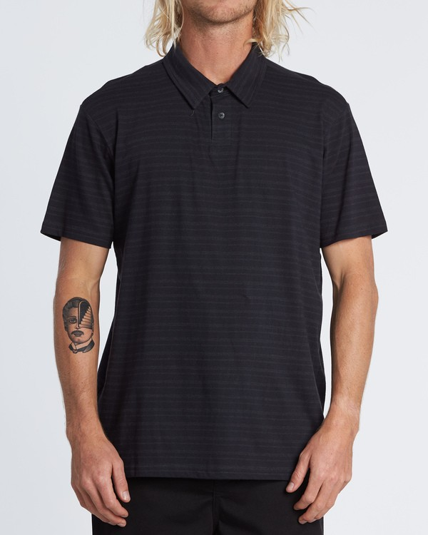0 Standard Issue Polo Shirt Black M9181BST Billabong