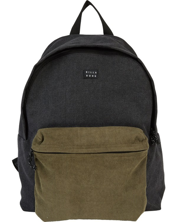 0 All Day Canvas Washed Canvas Backpack Grey MABKSBAD Billabong