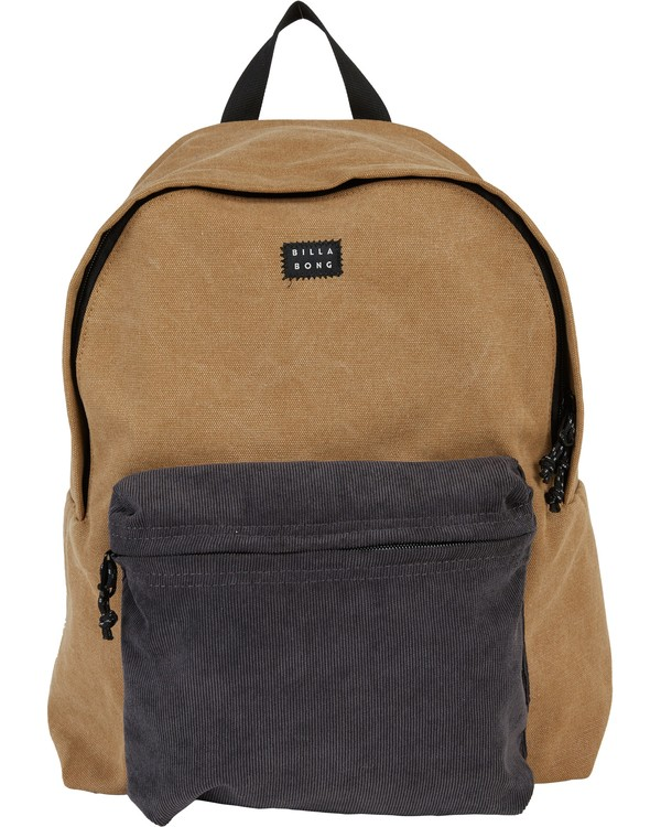 0 All Day Canvas Washed Canvas Backpack Brown MABKSBAD Billabong