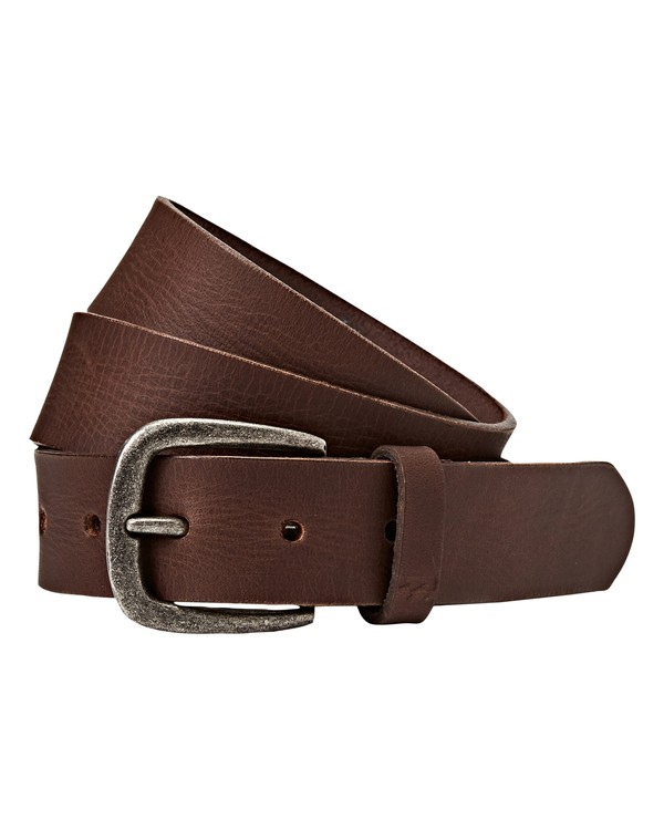 0 All Day Leather Belt Brown MABLQBLE Billabong