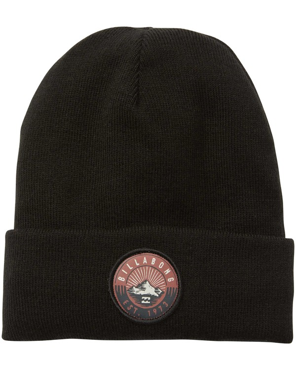 0 Disaster Polar Fleece Lined Cuff Beanie Black MABNQBDP Billabong