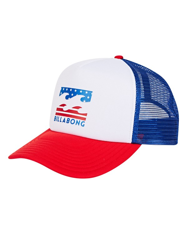 0 Podium Trucker Hat Red MAHTGPOD Billabong