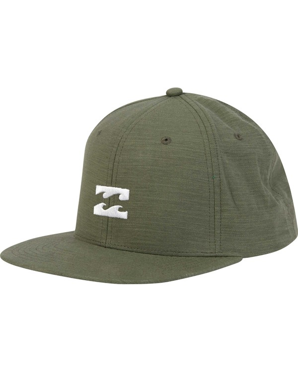 0 All Day Heather Snapback Hat Green MAHTLAHS Billabong