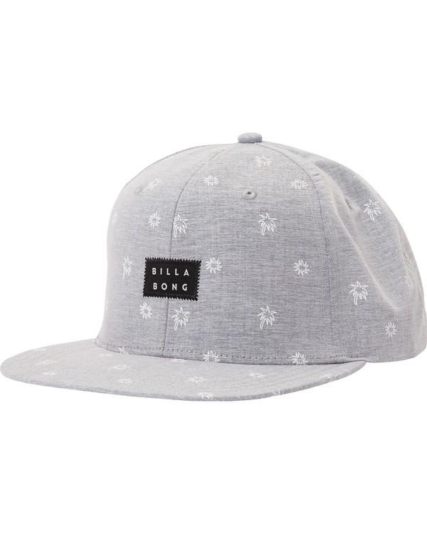 0 Clever Snapback Hat Grey MAHTMCLE Billabong
