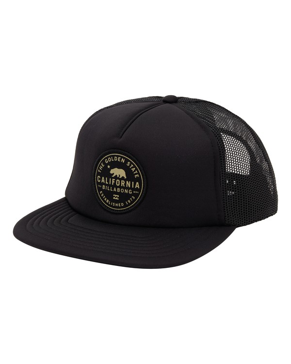 0 California Trucker Hat Black MAHW1BDR Billabong