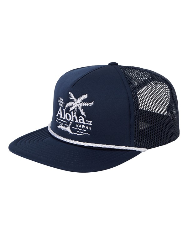 0 Destination Trucker Hat Blue MAHW1BDR Billabong
