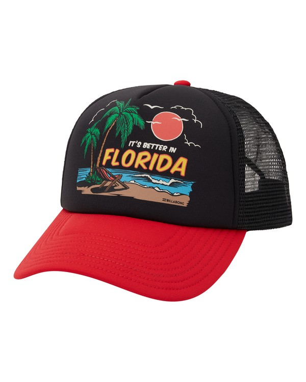 0 Vacay Trucker Hat Red MAHW1BLR Billabong
