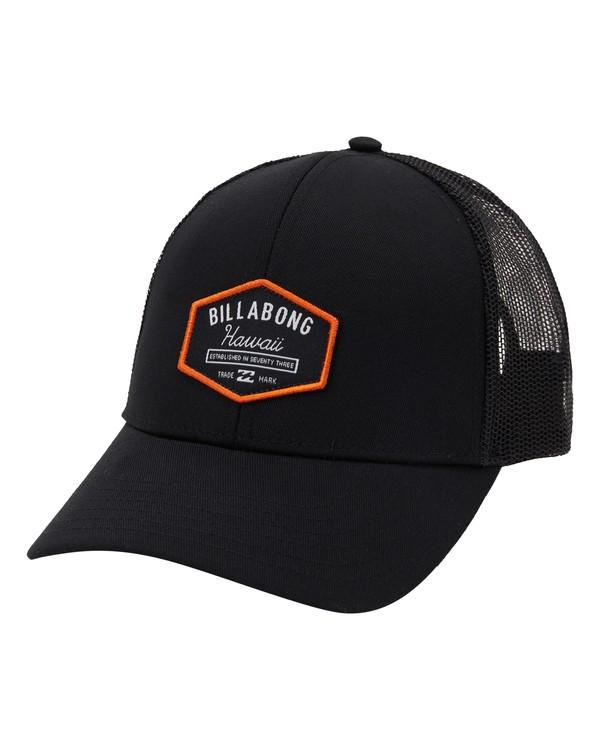 0 Walled Hawaii Trucker Hat Black MAHW1BPR Billabong