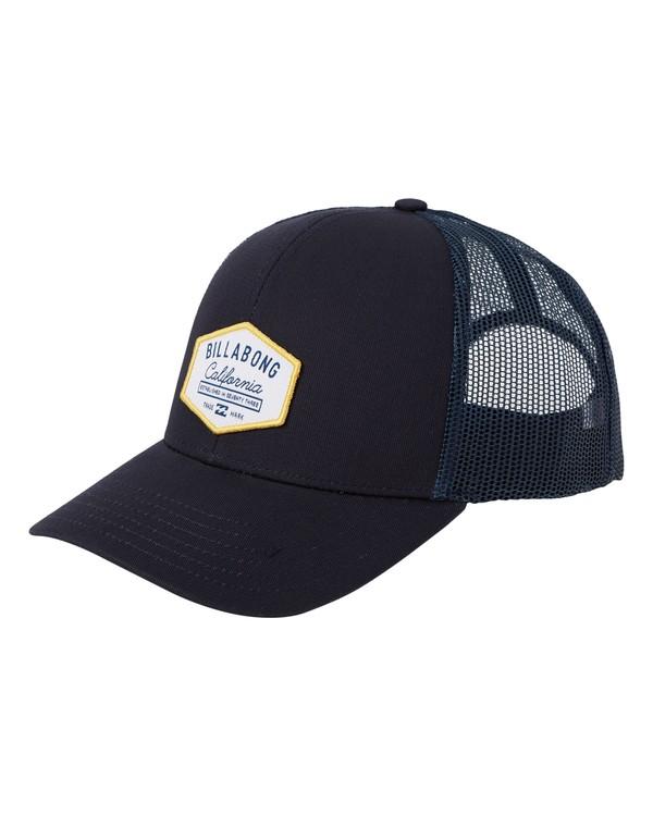 0 Walled Destination Trucker Hat Blue MAHW1BPR Billabong