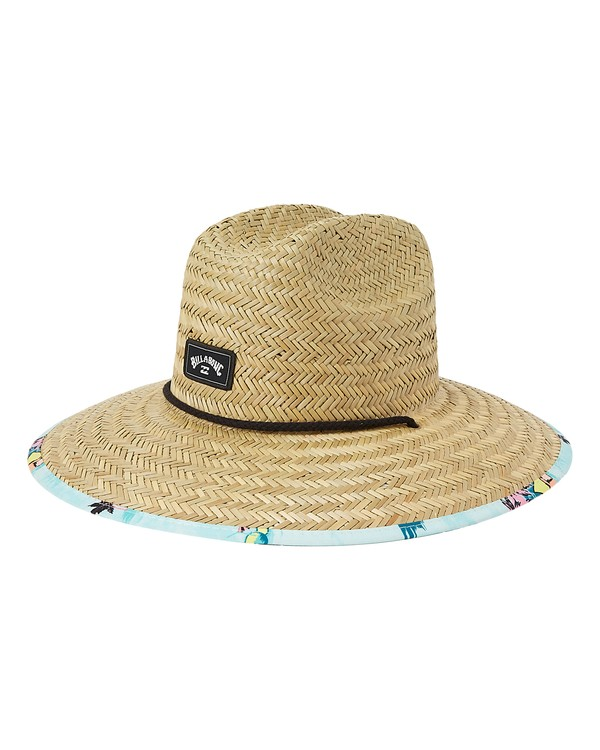 0 Tides Print Straw Lifeguard Hat Green MAHW1BTP Billabong