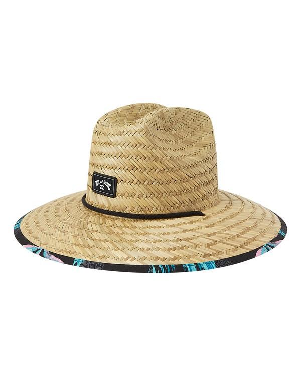 0 Tides Print Straw Lifeguard Hat White MAHW1BTP Billabong