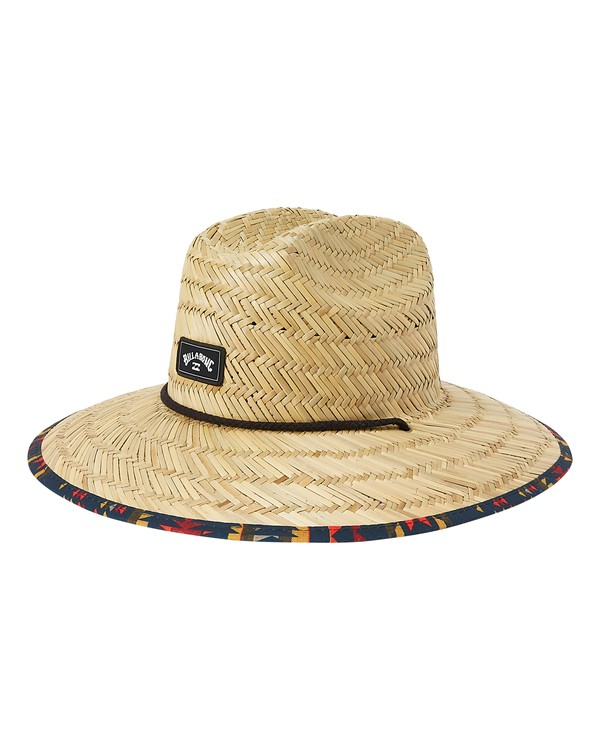 0 Tides Print Straw Lifeguard Hat Yellow MAHW1BTP Billabong