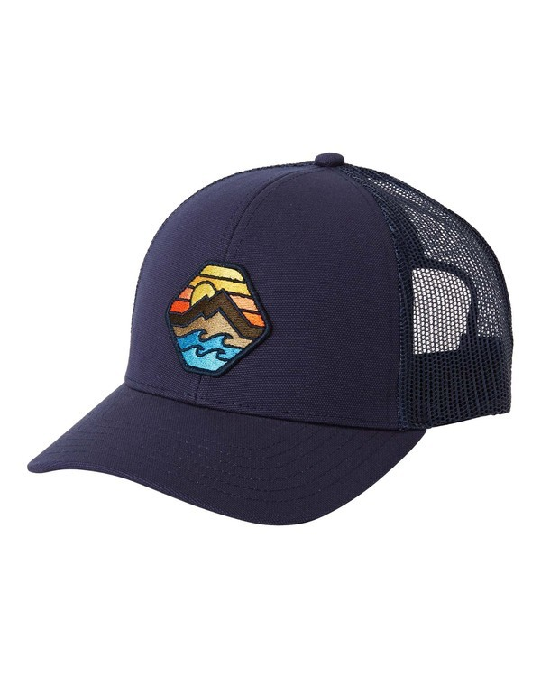 0 Walled Adiv Trucker Hat Blue MAHW3BAD Billabong