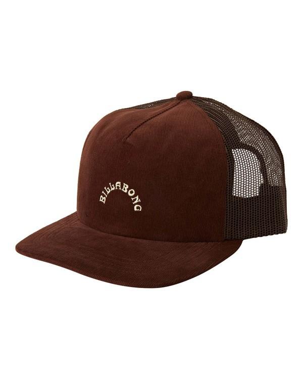 0 Backside Trucker Hat Brown MAHW3BBT Billabong
