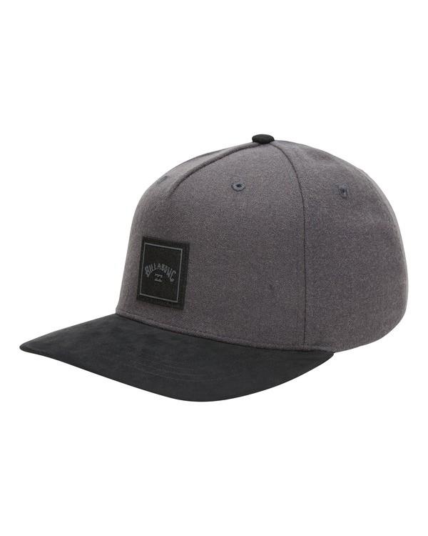 0 Stacked Up Snapback Hat Grey MAHW3BSU Billabong