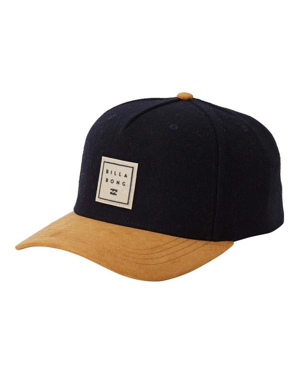 0 Stacked Up Snapback Hat Blue MAHW3BSU Billabong