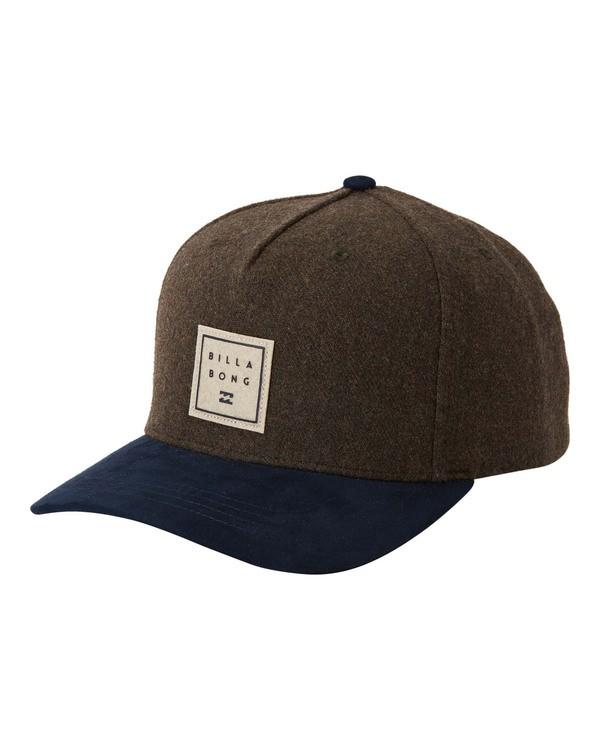0 Stacked Up Snapback Hat Green MAHW3BSU Billabong