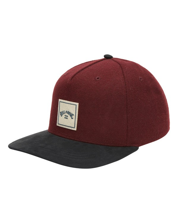 0 Stacked Up Snapback Hat Red MAHW3BSU Billabong