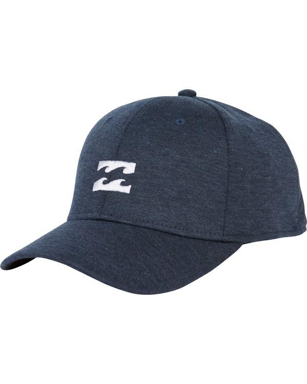 0 All Day Heather Stretch Fit Hat Blue MAHWNBAH Billabong