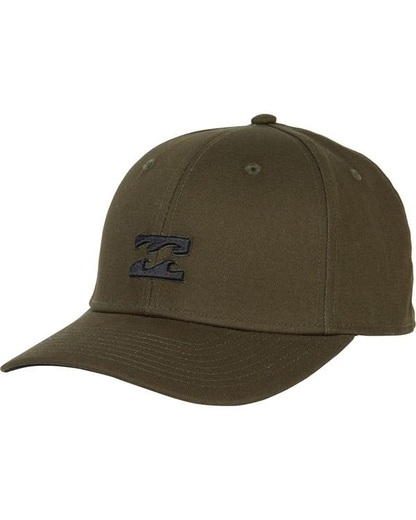 0 All Day Stretch Fit Hat Green MAHWNBAT Billabong