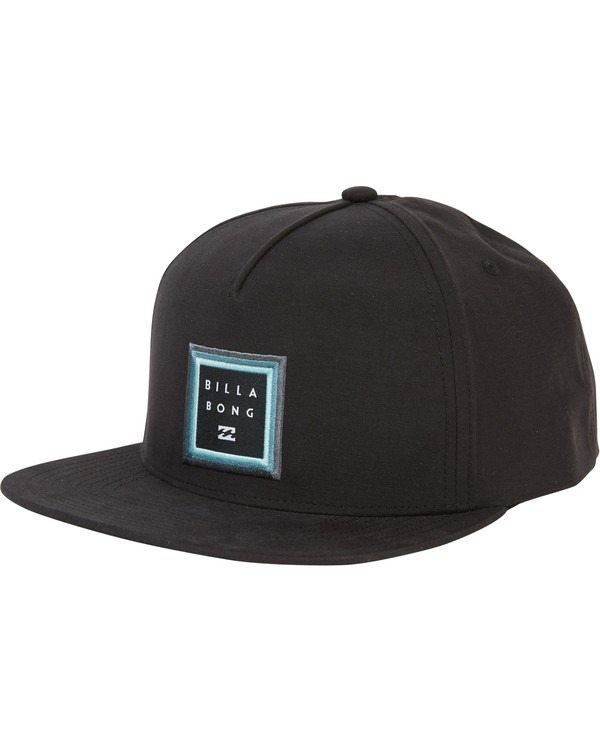 0 Stackedfade Twill Snap Back Hat Black MAHWSBSF Billabong