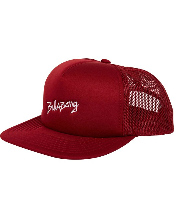 0 Eighty Six Trucker Hat Red MAHWTBEI Billabong