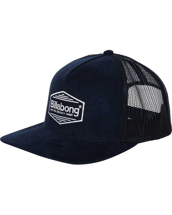 0 Flatwall Trucker Hat Blue MAHWTBFW Billabong
