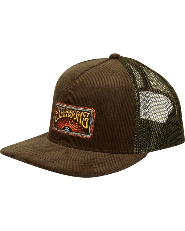 0 Flatwall Trucker Hat Green MAHWTBFW Billabong
