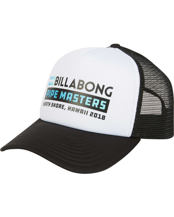 0 Pipe Masters Trucker Hat Black MAHWTBPM Billabong